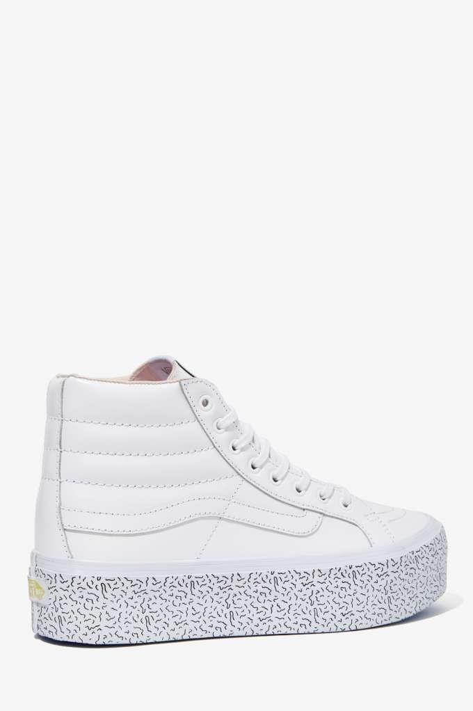 0e14dae44fef24 Nasty Gal x Vans Step Up Sk8-Hi Leather Platform Sneaker - High-Tops ...