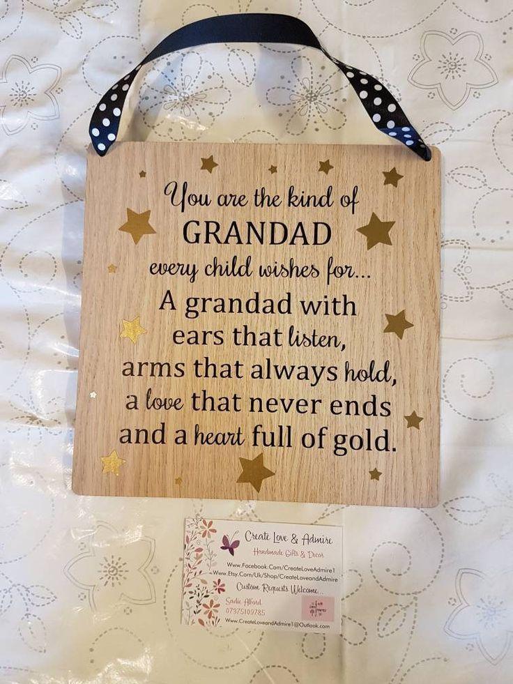 Grandad Plaque - Fathers Day Gift - Grandad Quote - Grandad Gift - Wooden Quote Plaque - Grandad Birthday - Grandpa Sign - Pops Sign