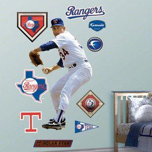 Mlb 045 Nolan Ryan Texas Rangers Fathead Nolan Ryan Texas Rangers Chicago Cubs