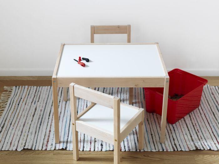 Latt Children S Table And 2 Chairs White Pine Ikea Ikea Childrens Table Childrens Table Furniture