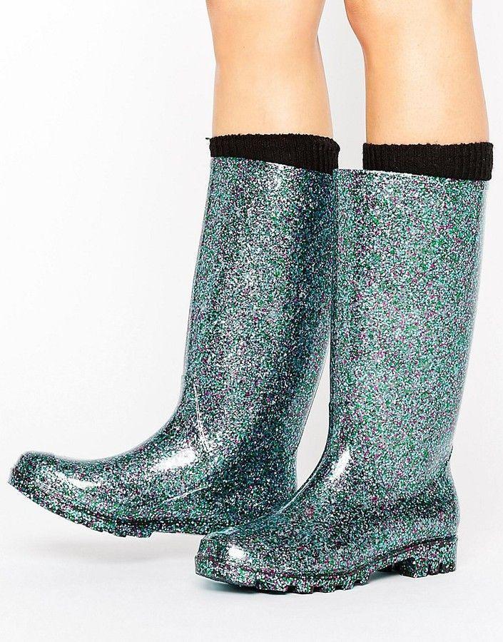 ASOS GANGSTER Glitter Wellies · Prom ShoesBlue BootsWomen's ...
