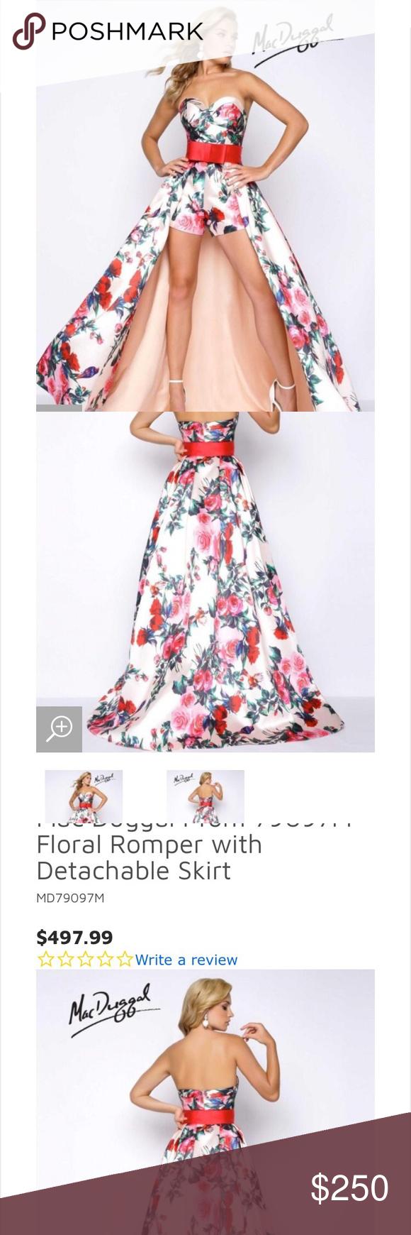 Macduggal formal dress piece skirt short set in my posh