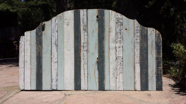Standard or California King pallet wood headboard  Distressed Paint by SecondLi Standard or California King pallet wood headboard  Distressed Paint by SecondLi