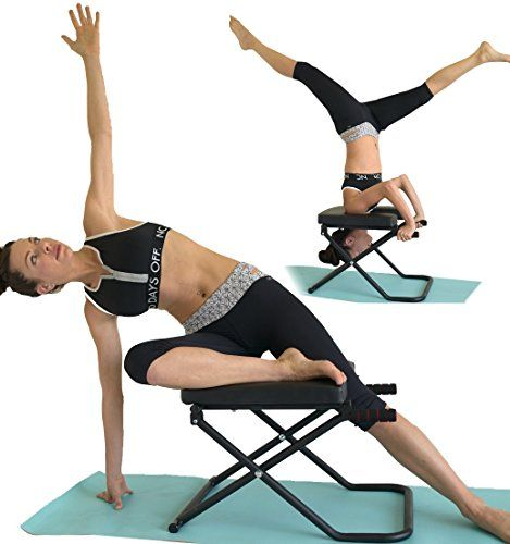 Fitness Yoga Chair Inversion Bench Bench Workout Manual More Info Could Be Found At The Image Url Bench Workout Headstand Yoga Advanced Yoga