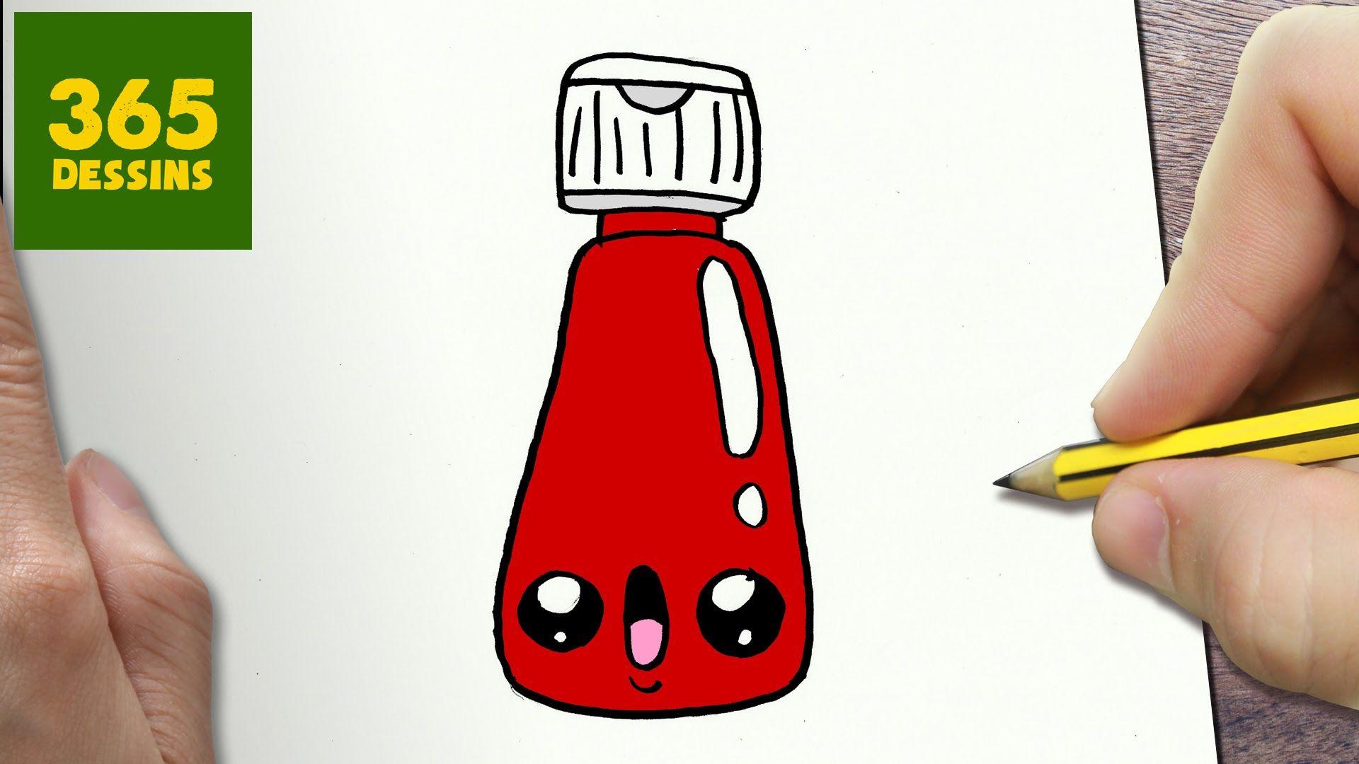 Comment Dessiner Ketchup Kawaii étape Par étape Dessins