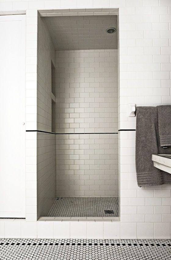 subway tiles + hex tiles - two classic tile options that pair nicely ...