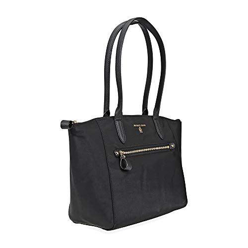 a1e3e3ca0913 MICHAEL Michael Kors Kelsey Medium Top-Zip Tote (Black) Clout Wear ...