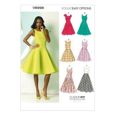 Vogue V8998 Misses\' Dress   Spotlight Australia   DIY Sewing ...