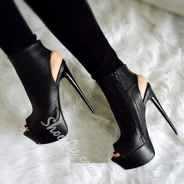 Awesome Stiletto Heels Peep-toe Ankle Boots | Peep toe ankle boots ...