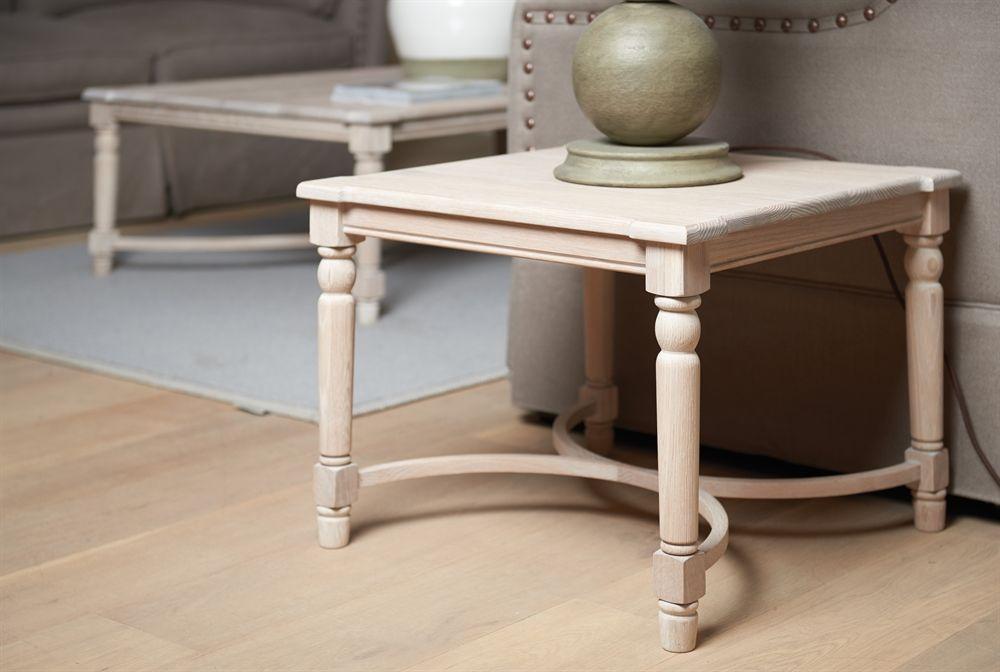 Neptune Blenheim Low Side Table , Brushed Chalked Oak