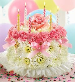Birthday Flower CakeR Pastel
