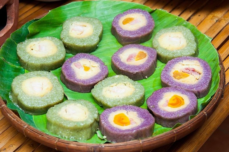 Banh Tet Traditional cake in southern Vietnam