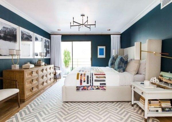 Braune Wohnzimmerwand ~ Wohnzimmerwand ideen blau flamencon