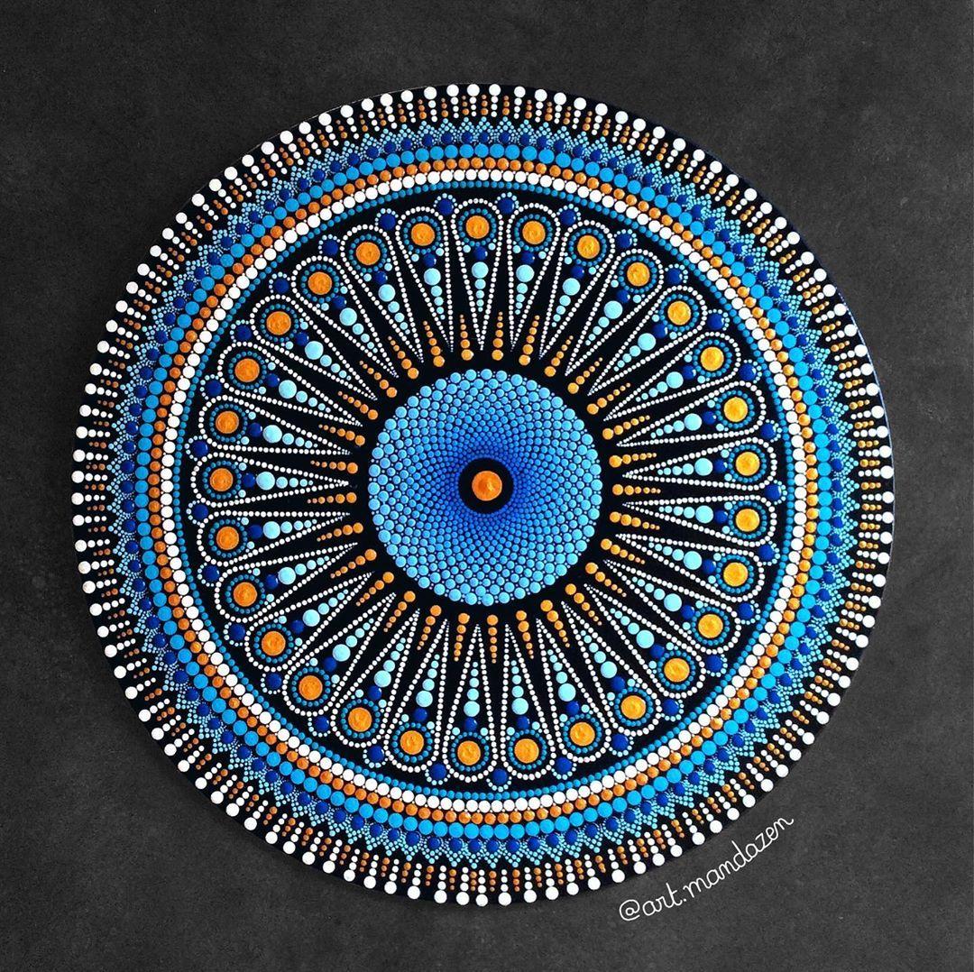 73 Mentions J Aime 4 Commentaires Mandala Dot Art Art Mandazen Sur Instagram For More Information On R In 2020 Mandala Dots Dots Art Dot Art Painting