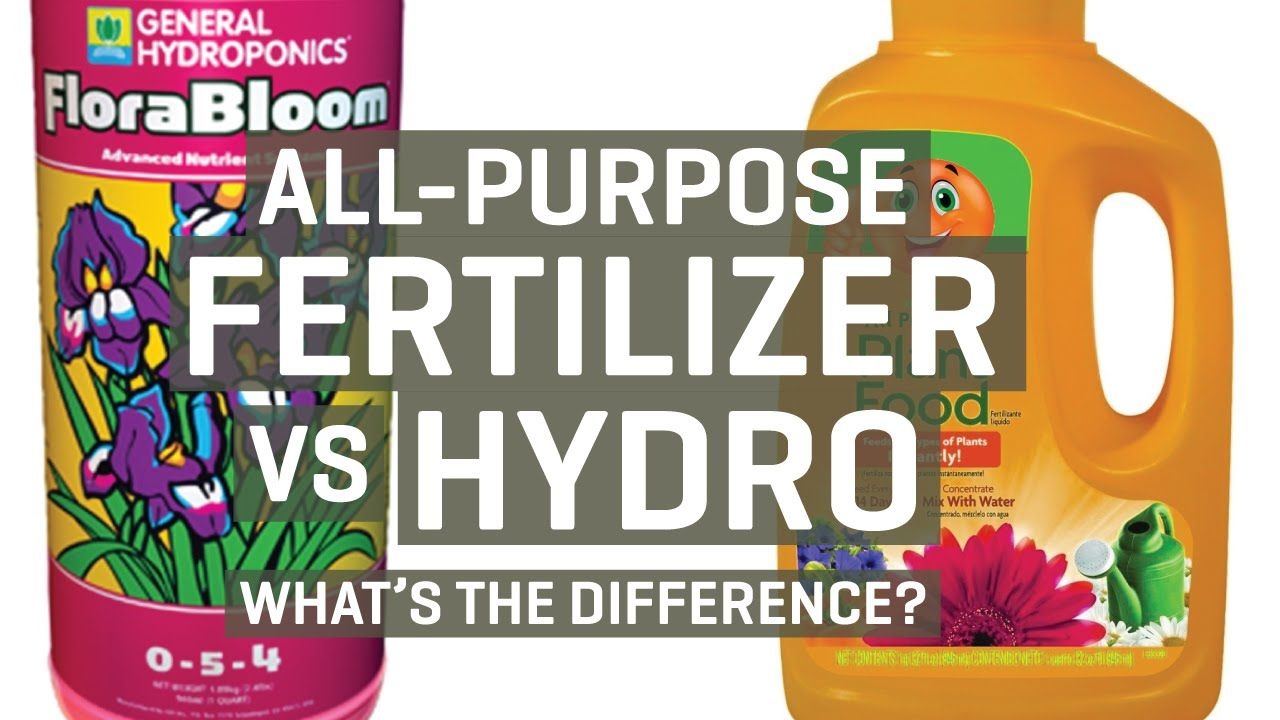 All Purpose Fertilizer Vs Hydroponic Nutrients Hydroponics Organic Nutrients Fertilizer