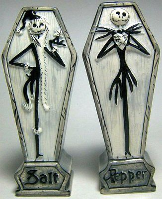 Nightmare Before Christmas salt  pepper shakers