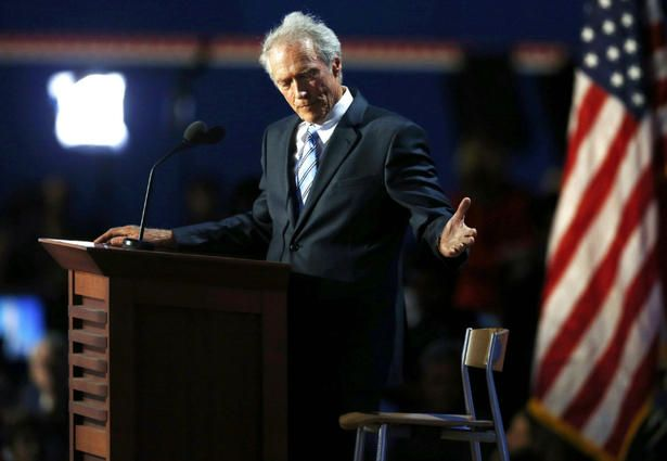 Clint Eastwood's bizarre 'Invisible Obama' speech baffles, wows Republicans #GOP #RNC #emptychair