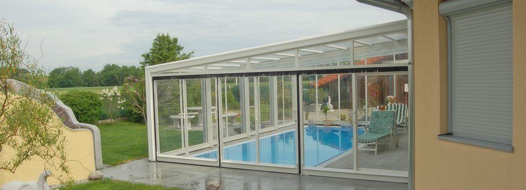 The Lean To Swimming Pool Enclosure Catalogue Pool Cover Swimming Pool Enclosures Pool Enclosures Pool Cover