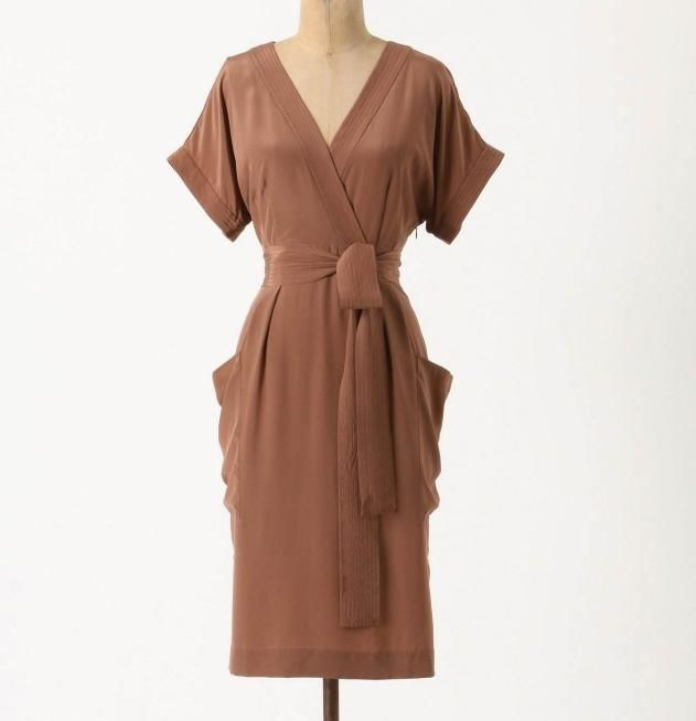 perfect hot chocolate colored corliss dress from anthropologie