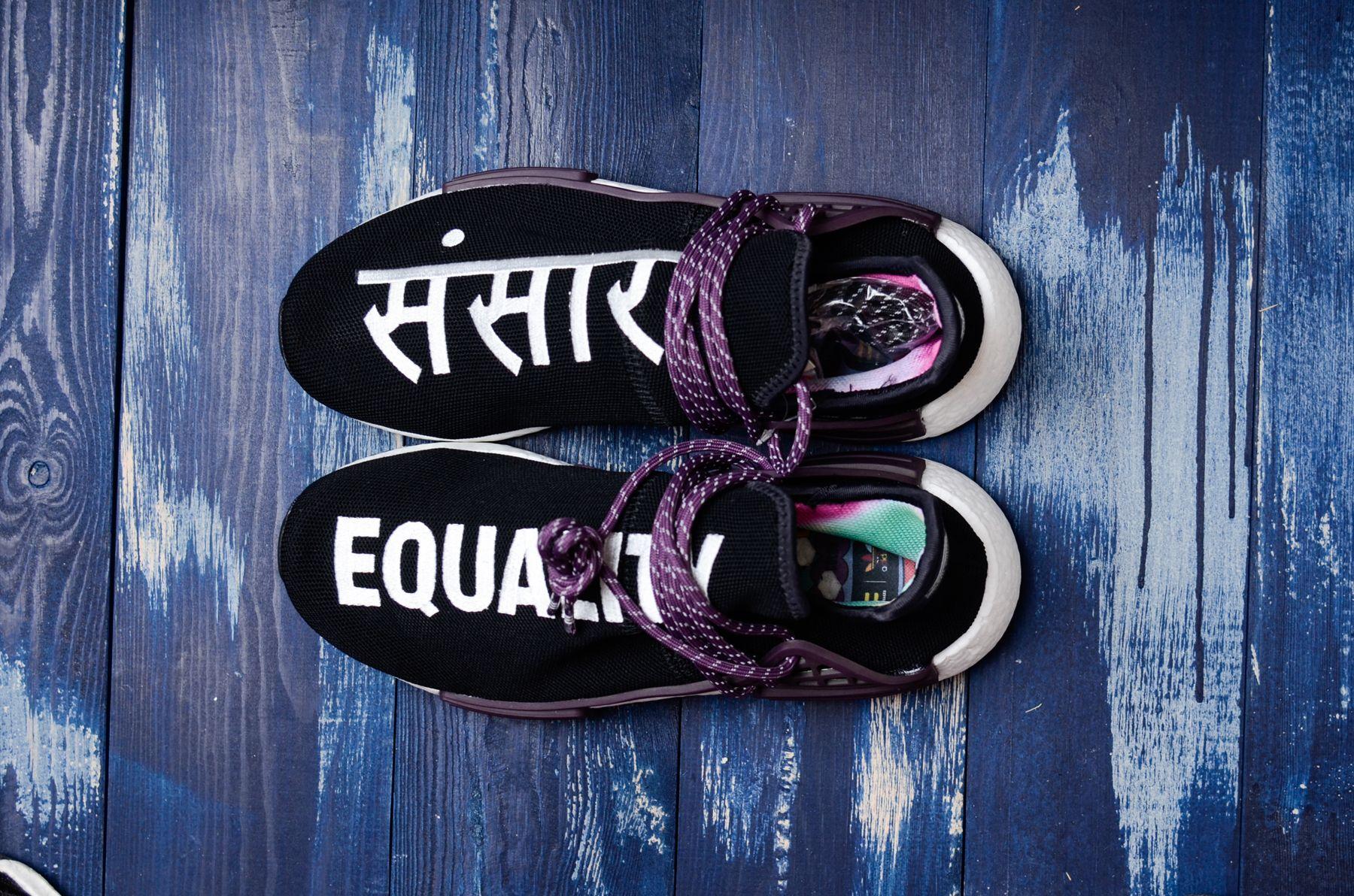 """b91fff619 Pharrell x adidas NMD Hu Holi Powder Dye """"Equality"""" AC7033"""
