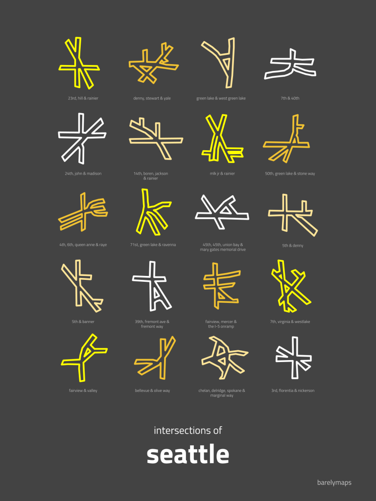 Intersection or Hieroglyph? Seattle, Map, City layout