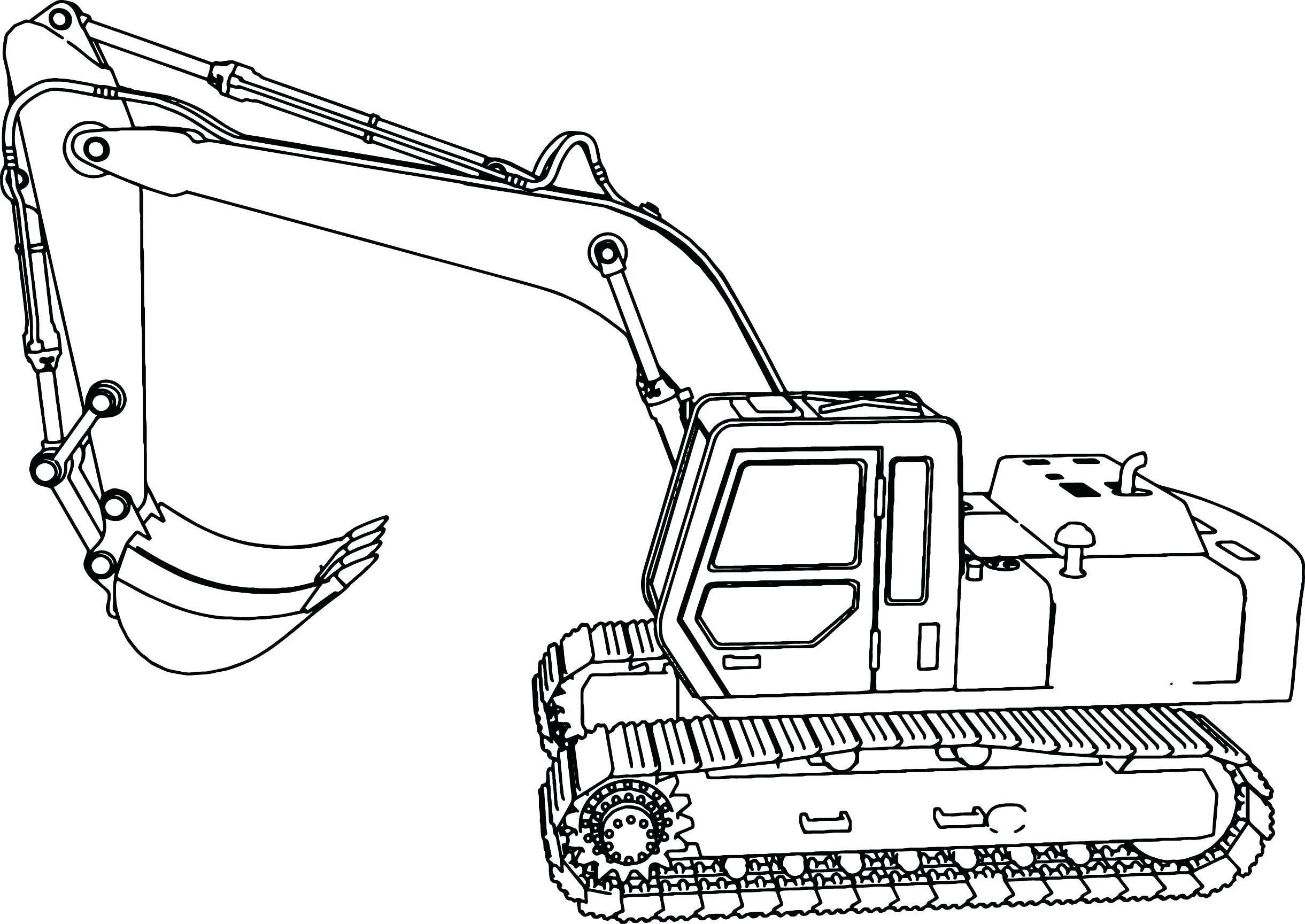 Malvorlagen Bagger Traktor Buku Mewarnai Warna Buku