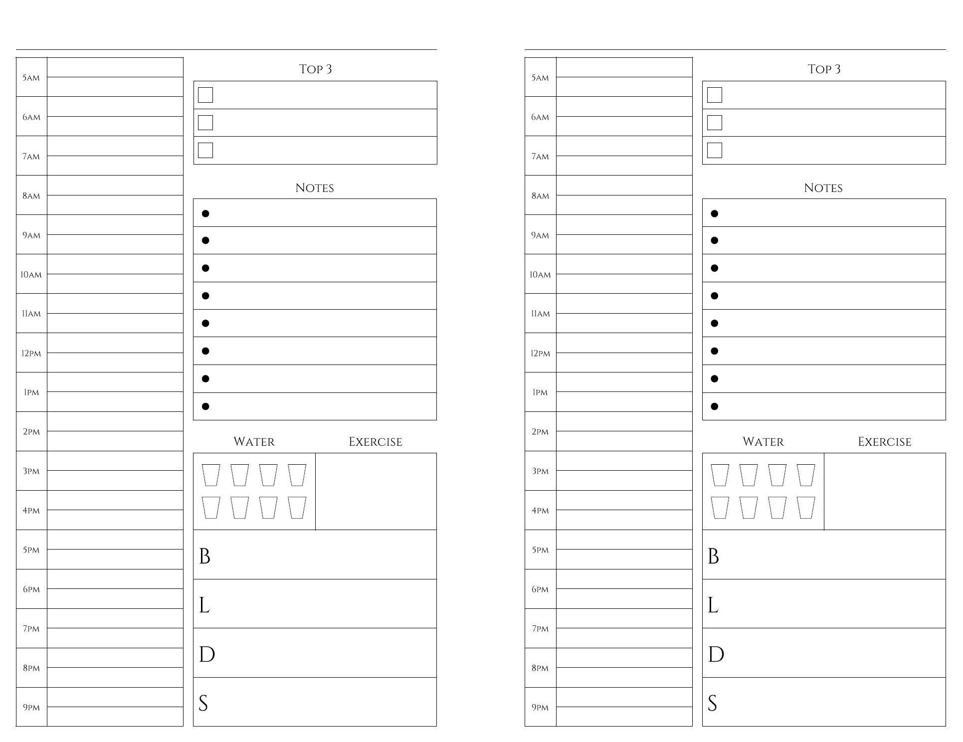 Free Printables Weekly planner printable, Daily planner