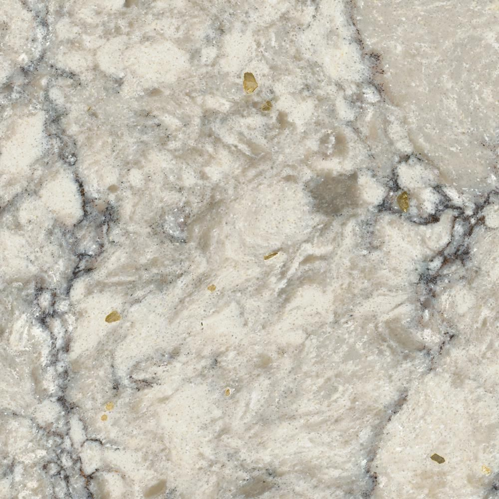 LG Hausys Viatera 3 in. x 3 in. Quartz Countertop Sample in Intermezzo-LG-M004-VT - The Home Depot