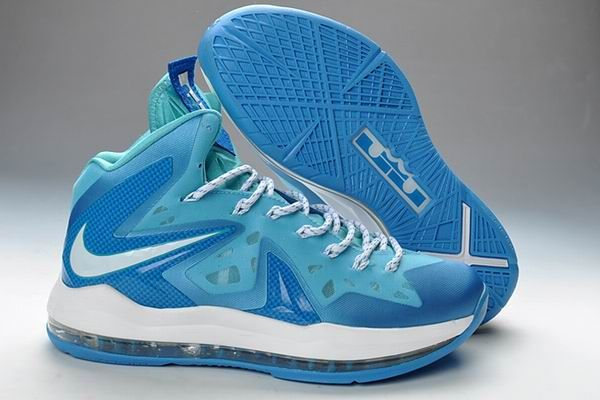 new concept 4bf04 cdbb3 Lebron 10 PS Elite Blue Diamond White Discount Nike Shoes, Nike Shoes  Cheap, Nike