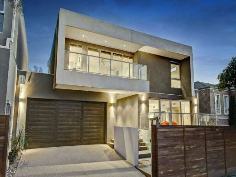 Photo of a concrete house exterior from real australian for Modern house facades