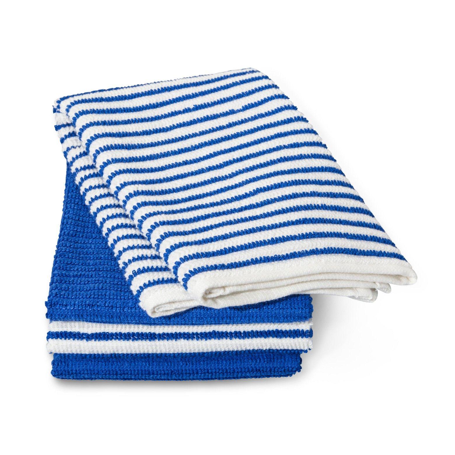 6pk blue kitchen towel - room essentials, glorious blue