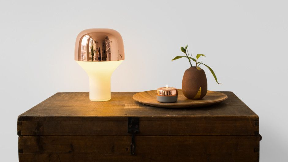 CAP | table light by TEO - Timeless Everyday Objects made in Germany on CROWDYHOUSE  #lamp #copper #lighting
