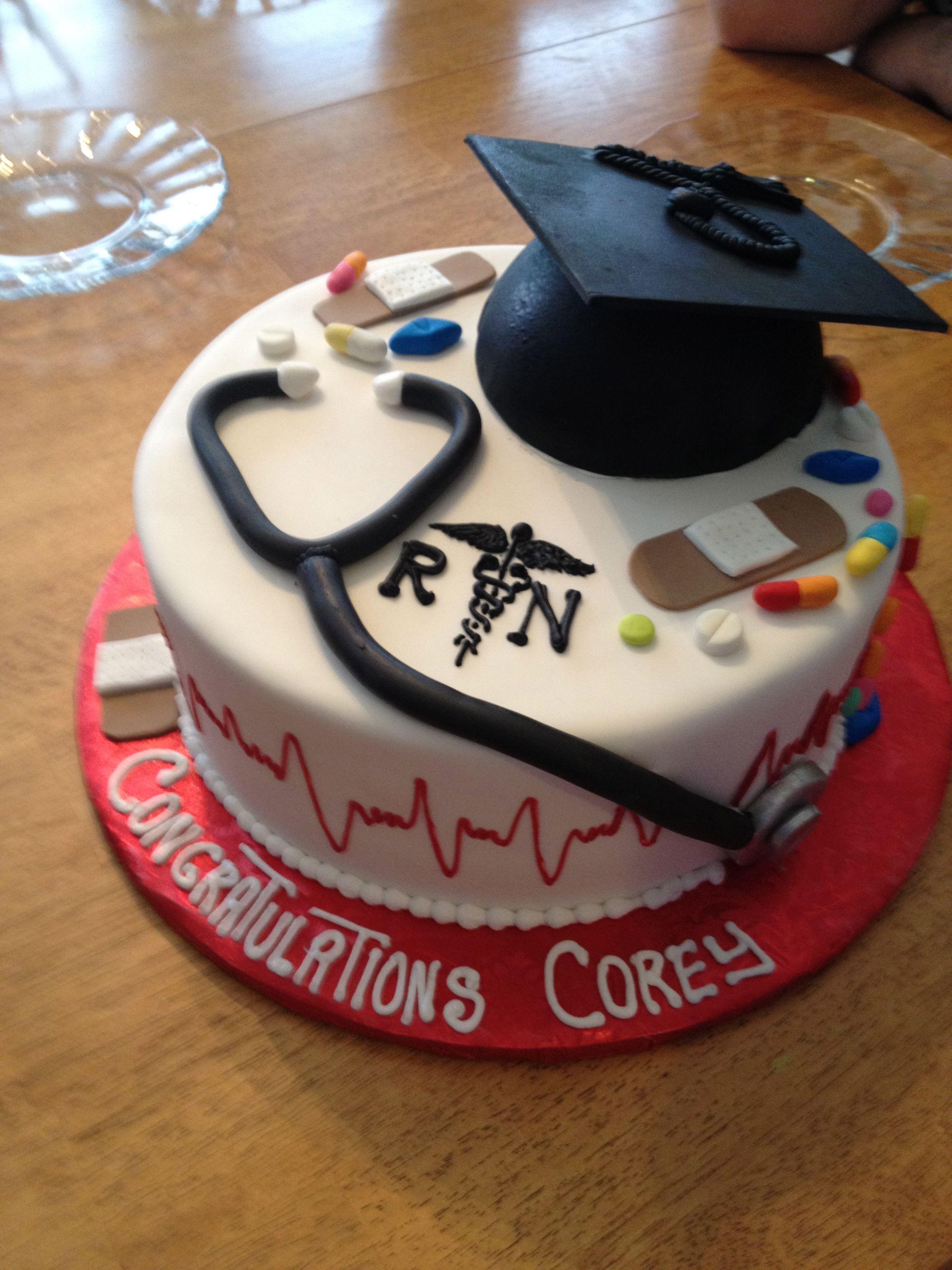 Hubs Cake For Graduating Nursing School Nursing Graduation