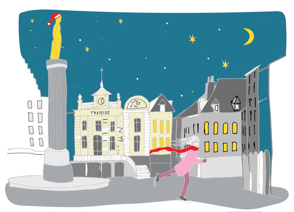 Carte de Lille | Cartes de voeux, Creation graphique, Carte