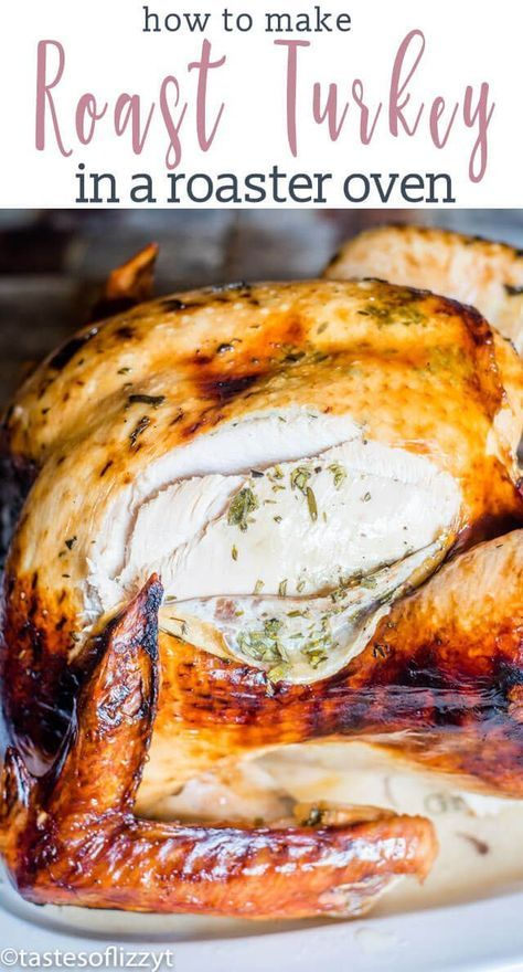 Photo of Roast Turkey in an Electric Roaster {Easy Recipe for Thanksgiving Turkey}