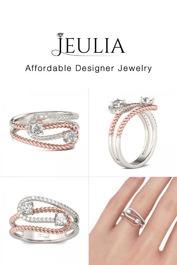 #Jeulia JEULIA Two Stone Engagement Ring Round Cut Created White Sapphir. Discover more stunning Two Stone Rings from Jeulia.com. Shop Now!