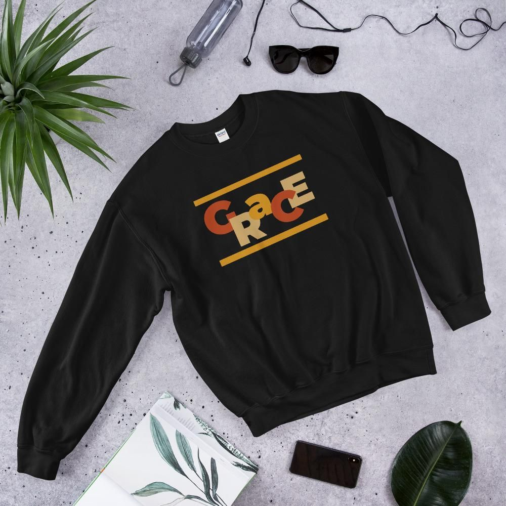 Photo of Unisex Sweatshirt/Grace – Black / 3XL