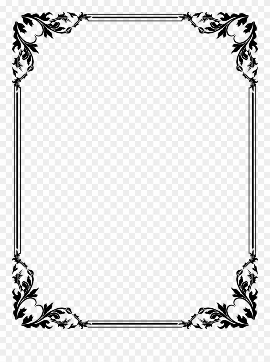 Free Download Clip Art Border Clipart Frames Border Certificate Design Png Download 230416 Is A Page Borders Design Clip Art Borders Frame Border Design