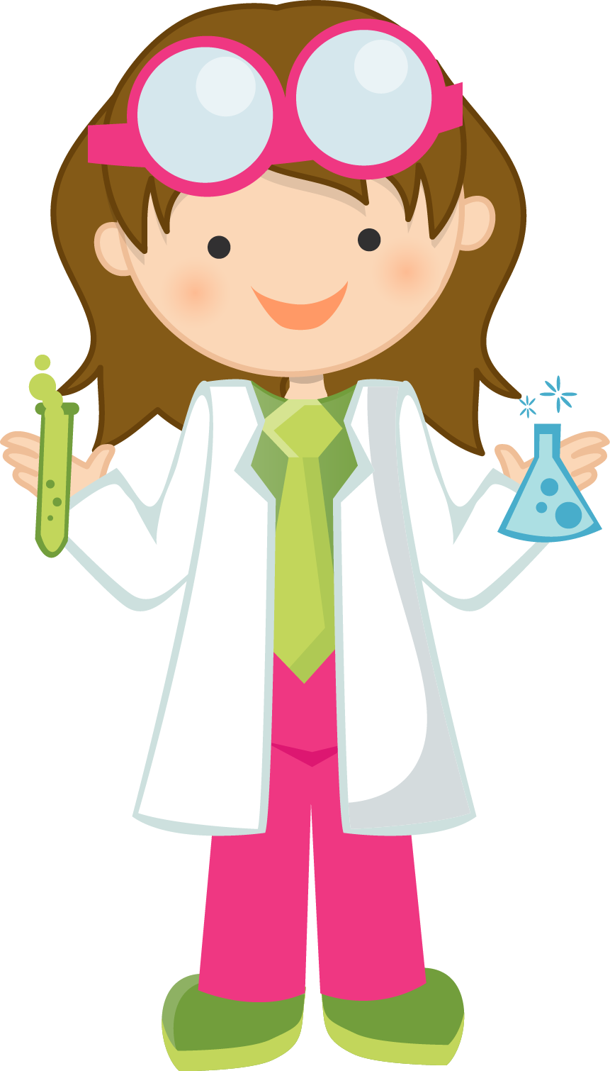 hight resolution of girl scientist free clipart