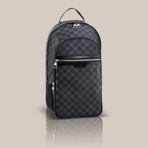 Michael Damier Graphite Canvas The Michael in Damier Graphite canvas is a  lightweight backpack combining style and comfort. Ideal for carrying a  laptop, ... cafc499b6b