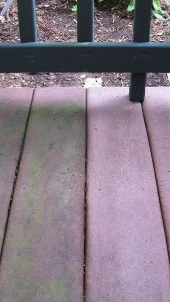Oxygen Bleach Removing Green Algae Slime From Decking Need To Do This Already