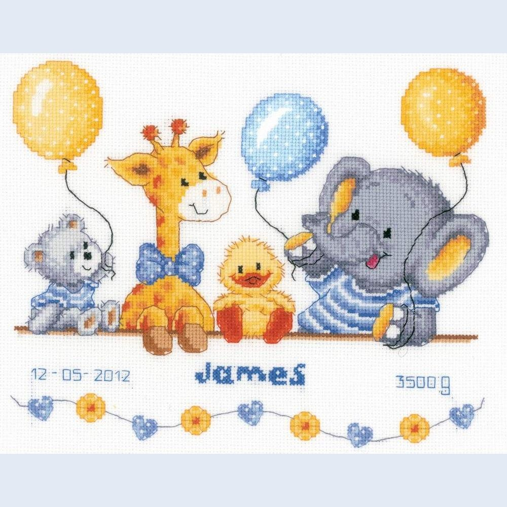 Baby Shower - counted cross-stitch kit Vervaco