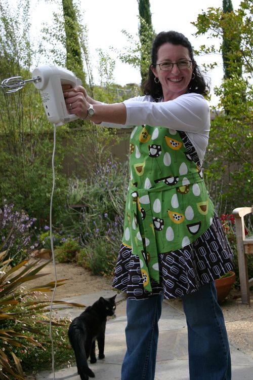 LOOK OUT!!  Lady with an egg beater!  This is Not so Fancy Nancy.  She is GREAT!  Check out her blog and the zillion great projects she shares.