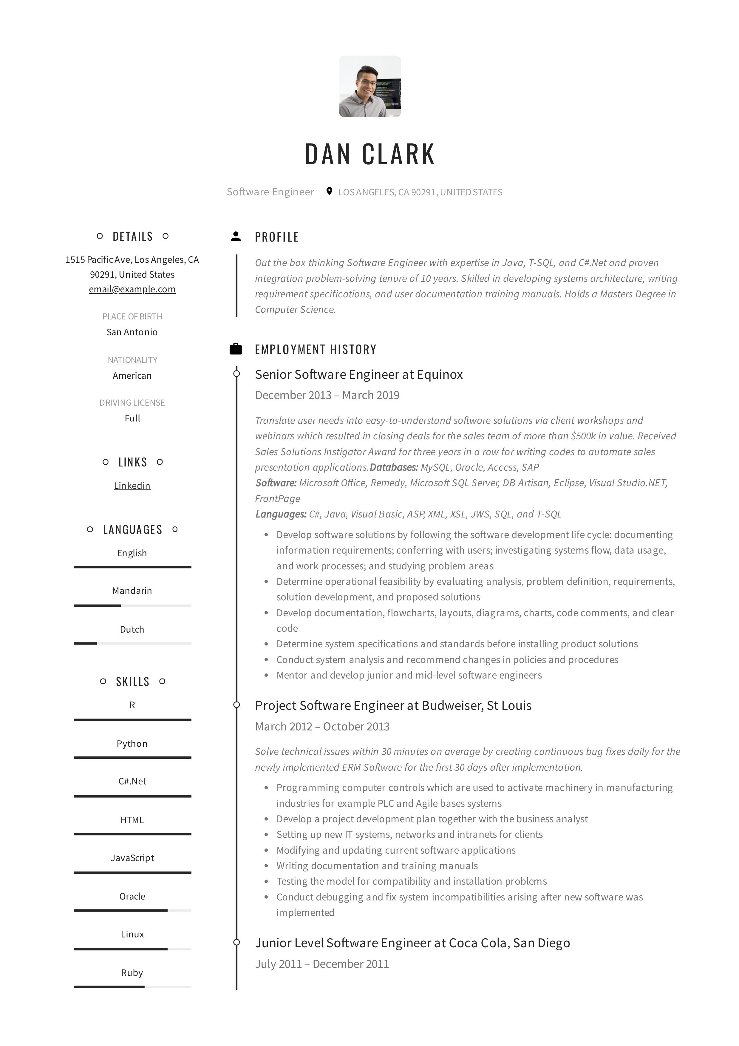 Software Engineer Resume Writing Guide In 2020 Resume Templates