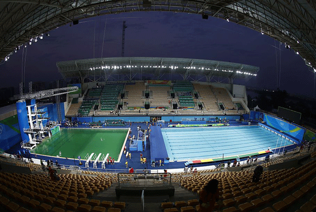Why Did The Olympic Diving Pool Turn Green Olympic Diving Rio Olympics Diving Pool