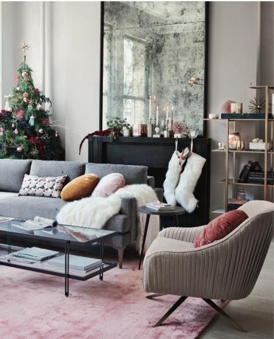 West Elm Christmas 2018.Holiday 2018 Trends Faux Fur Neutrals Blush Pink West Elm