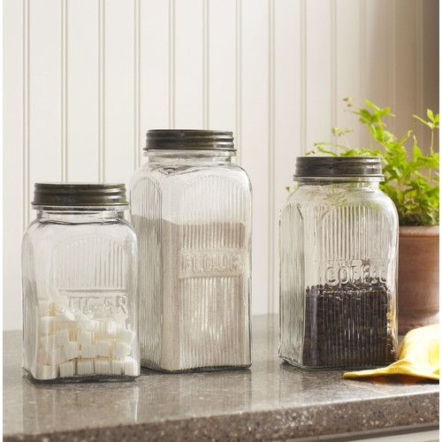 Found It At Wayfair  Weston 3Piece Jar Set  Shop For Mom Impressive Kitchen Jar Set Inspiration Design