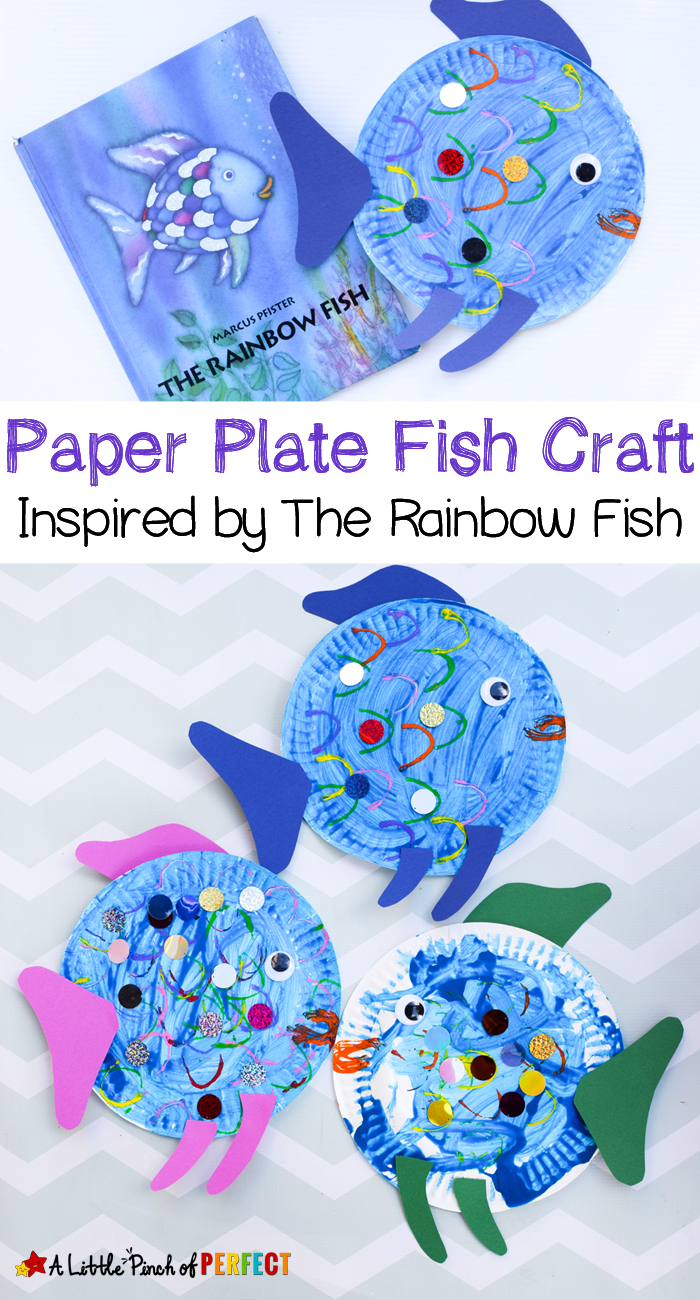 paper plate fish craft inspired by the rainbow fish a perfect