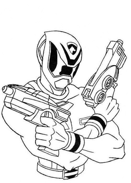 Power Rangers Spd Shooting Ready Coloring Page Coloring