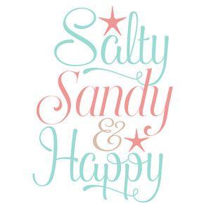 Silhouette Design Store: Salty Sandy & Happy